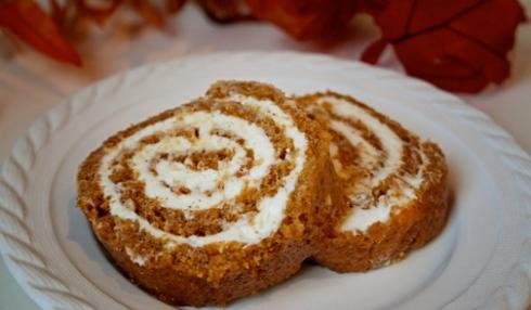 Domata Gluten Free Pumpkin Roll Cake